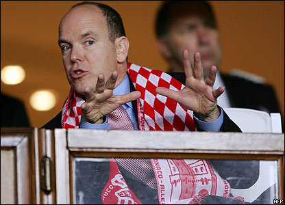 Prince Albert at the football