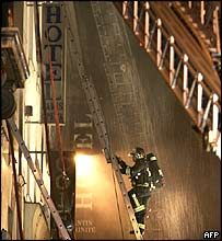 Firefighter at the Paris Opera hotel