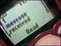 Text message, BBC