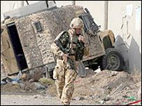 British soldier at scene of attack