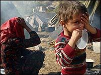 Quake victims in Pakistan