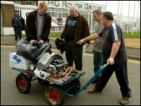 Rover workers packing up