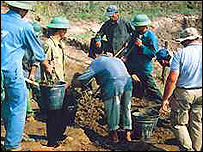 Field excavations in Vietnam