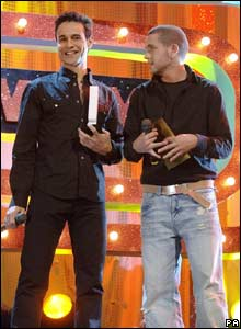 X Factor contestants Chico (left) and Shayne  Ward