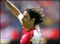 Robert Pires scored just before half-time