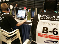 Players at the World Cyber Games, AFP/Getty