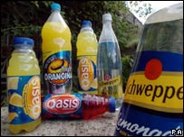 Oasis and Orangina