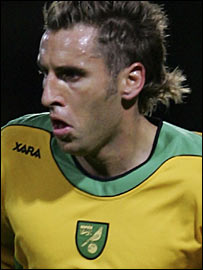 Norwich forward Darren Huckerby