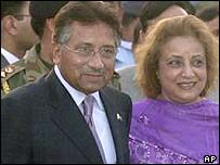 Musharraf and wife Sehba in Delhi