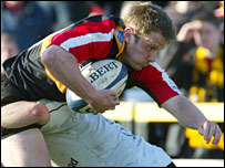 Kevin Morgan scored two tries for the Dragons