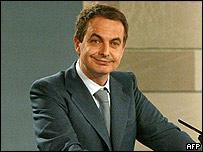 Jos� Luis Rodr�guez Zapatero, jefe del gobierno espa�ol