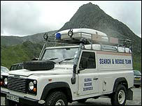 Ogwen Valley Mountain Rescue Team vehicle