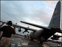 US air base in Karshi-Khanabad, Uzbekistan