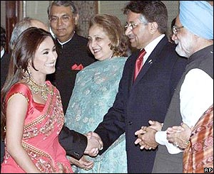 Bollywood star Rani Mukherjee with President Musharraf