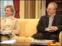 Frances Edmonds and Peter Kellner
