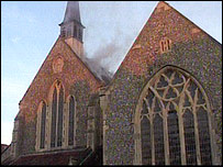 St Barnabas' Church (picture from East Sussex Fire & Rescue)