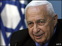 Ariel Sharon announcing he was leaving the Likud party