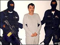 Mexican police hold suspected drug cartel leader Ricardo Garcia Urquiza
