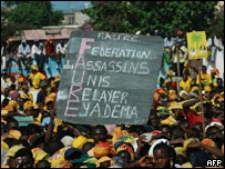 Thousands of supporters of Togo's main opposition leader Gilchrist Olympio attended his rally in the capital, Lome on Saturday 16 April