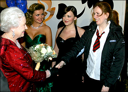 Comedienne Catherine Tate meets the Queen