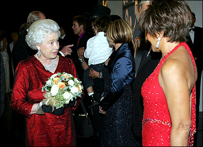 The Queen and Shirley Bassey
