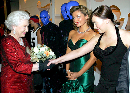 The Queen, Charlotte Church and Katherine Jenkins