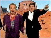 Tony Christie (left) with Peter Kay