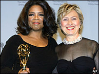Oprah Winfrey and Hillary Clinton