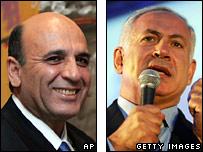 Shaul Mofaz and Binyamin Netanyahu