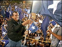 National Party candidate Porfirio Lobo