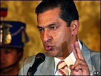 President Lucio Gutierrez of Ecuador