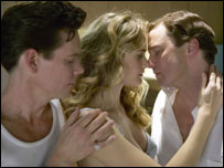 Kevin Bacon, Rachel Blanchard and Colin Firth in Where The Truth Lies