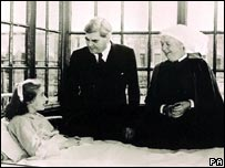 Aneurin Bevan visits the NHS's first patient