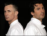 Gary Rhodes and Jean Christophe Novelli