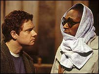 Martin Freeman and Mos Def in The Hitchhiker's Guide To The Galaxy