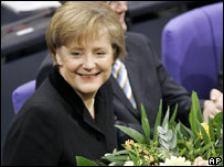 Angela Merkel after election as Chancellor