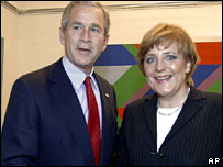 Merkel and Bush