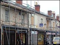 Ladypool Road scaffolding - November 2005