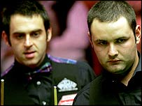 Ronnie O'Sullivan and Stephen Maguire