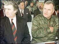 Radovan Karadzic (left) and Ratko Mladic. Archive picture