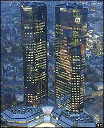 The Deutsche Bank headquarters, Frankfurt