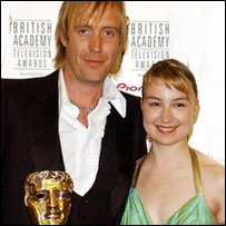 Rhys Ifans with actress Anamaria Marinca
