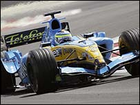 Giancarlo Fisichella in action for Renault