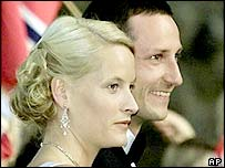 Crown Prince Haakon with Mette-Marit Tjessem Hoiby