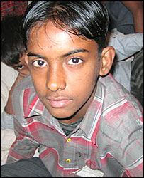 Tabrez Alam, one of the rescued child labourers