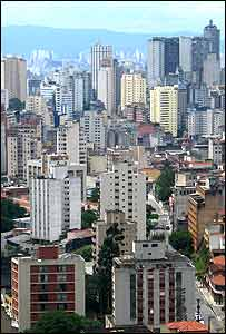 View of Sao Paulo city centre