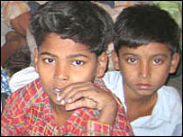 Rescued child labourers who were employed in textile factories around Delhi <i>(Pic: Geeta Pandey)<i>