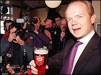 William Hague at Arkells Brewery