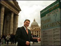 Paddy Power at St Peter's Square, the Vatican