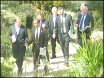 Plaid Cymru leaders in the National Botanic Garden